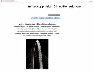 universityphysics13theditionsolutions.blogspot.com screenshot