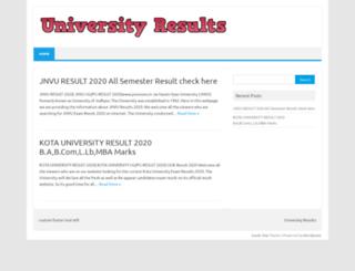 universityresult-nic.in screenshot