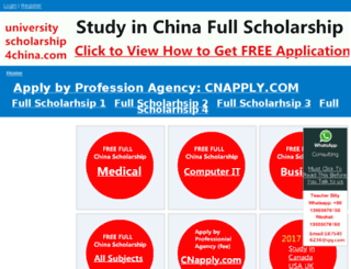 universityscholarship4china.com screenshot