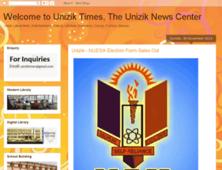 uniziktimes.blogspot.com screenshot