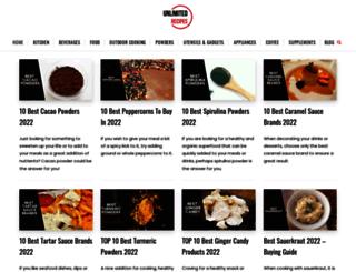 unlimited-recipes.com screenshot
