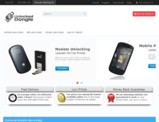 unlocked-dongle.co.uk screenshot