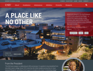 unlv.edu screenshot