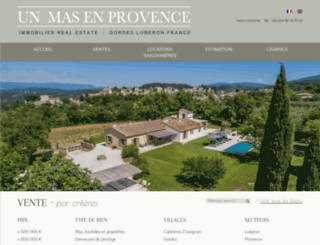 unmasenprovence.com screenshot