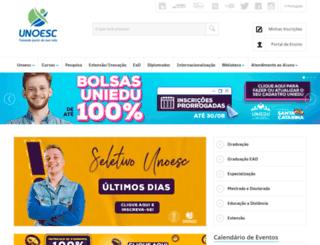 unoesc.com.br screenshot