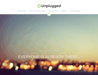 unplugged.strikingly.com screenshot