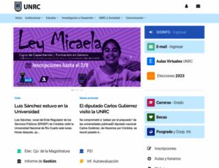 unrc.edu.ar screenshot