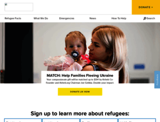unrefugees.org screenshot