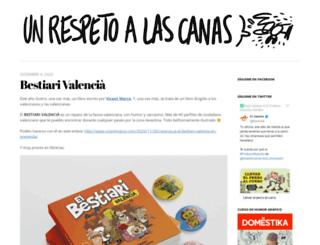 unrespetoalascanas.com screenshot