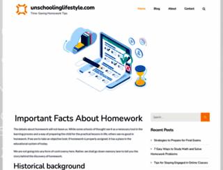 unschoolinglifestyle.com screenshot