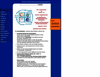 unterrichtsmaterial-schule.de screenshot
