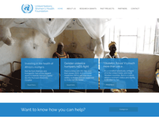 unwhf.org screenshot