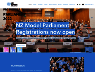 unyouth.org.nz screenshot