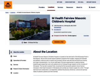 uofmchildrenshospital.org screenshot