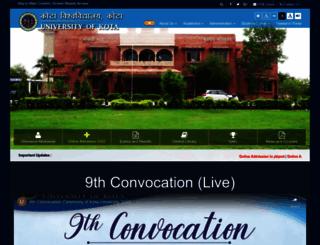 uok.ac.in screenshot