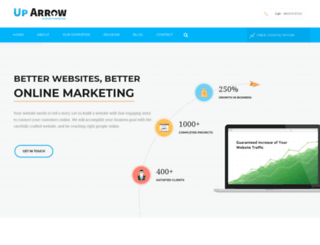 uparrowconsulting.com screenshot