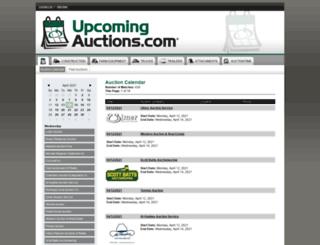 upcomingauctions.com screenshot