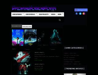 upcominghorrormovies.com screenshot