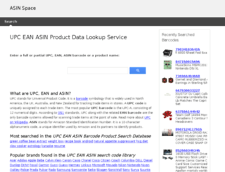 upcproductdata.com screenshot