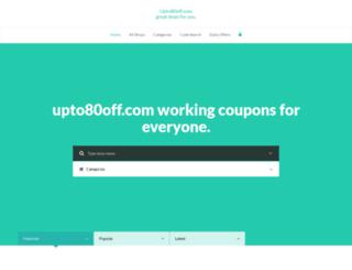 upto80off.com screenshot