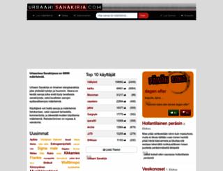 urbaanisanakirja.com screenshot