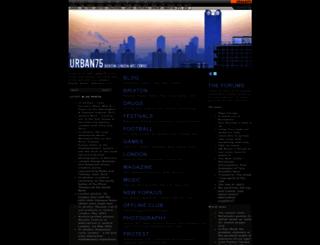 urban75.org screenshot