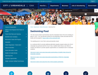 urbandalepool.org screenshot
