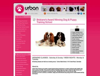urbandogtraining.com.au screenshot