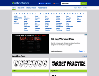 urbanfonts.com screenshot