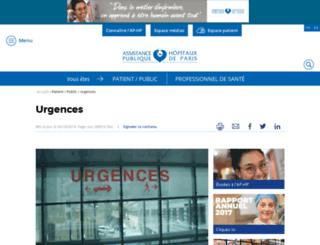 urgences.aphp.fr screenshot