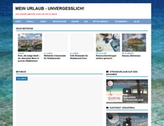 urlaub-erlebnisse.de screenshot