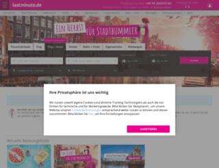 urlaub.lastminute.de screenshot