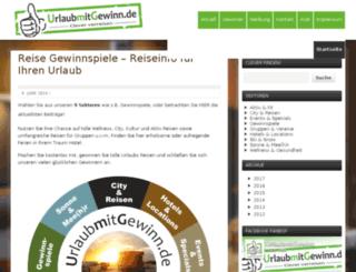 urlaubmitgewinn.de screenshot