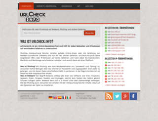 urlcheck.info screenshot