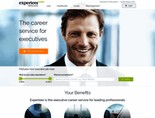 us.experteer.com screenshot