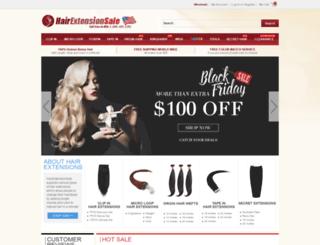 us.hairextensionsale.com screenshot