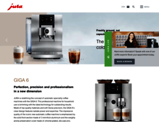 us.jura.com screenshot