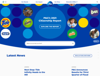 us.pg.com screenshot