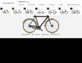 us.vanmoof.com screenshot