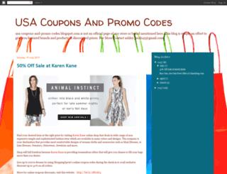 usa-coupons-and-promo-codes.blogspot.com screenshot