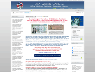 usa-green-card.org screenshot