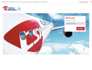 usa.czechairlines.com screenshot