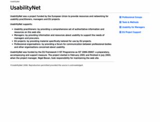 usabilitynet.org screenshot