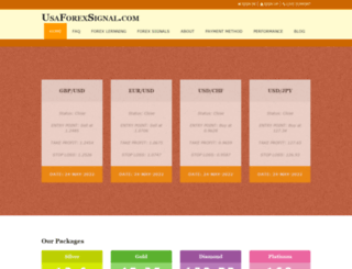 usaforexsignal.com screenshot