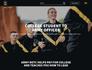 usarmyrotc.com screenshot