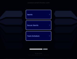 usasoccerarchives.com screenshot