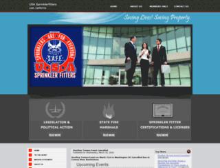 usasprinklerfitters.org screenshot