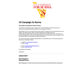 uscampaignforburma.org screenshot