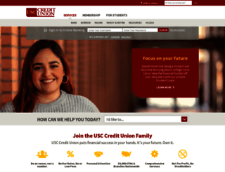 usccreditunion.org screenshot
