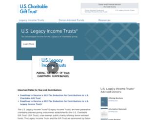 uscharitablegifttrust.org screenshot